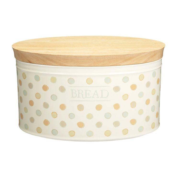 Kitchen Craft Klassik Kollektion Keramik-Brotkasten mit Holzdeckel