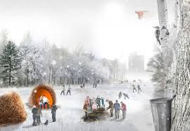 "THE SOUTHWOOD FAIRWAY IN WINTER, A RENDERING FROM THE WINNING PROPOSAL ""ARPENT"""
