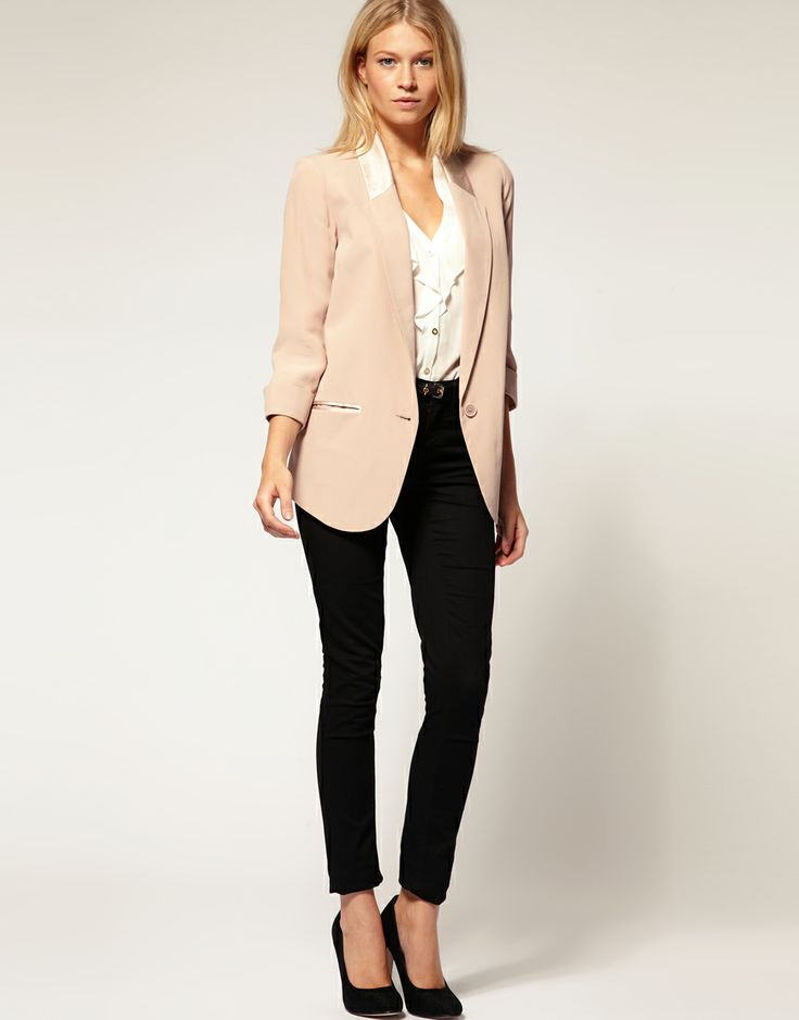 just got a blazer like this!  casual office wear.