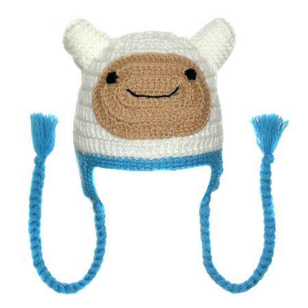 Touca de crochê do Finn (Hora de Aventura)   Crochet hat Finn Adventure Time