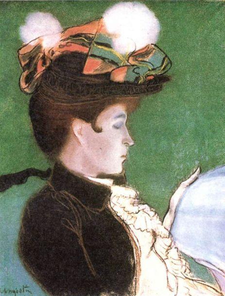 Портрет дамы. Л. Анкетен. После 1888 г. Живописная система-- клуазонизм.