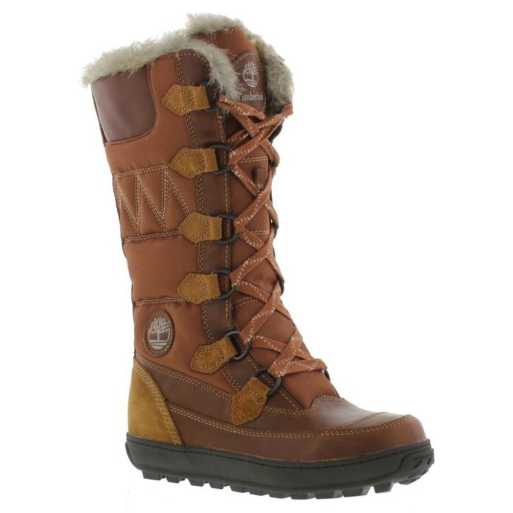 New Timberland Mukluk Womens 12 Inch Brown Mid Calf Boots Ladies Size UK 5-8