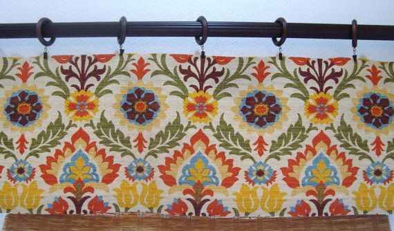 Custom Curtain Valances Waverly Santa Maria by CreativeTouchDecor, $38.95