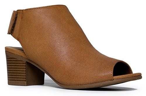 Peep Toe Bootie - Low Stacked Heel - Open Toe Ankle Boot ... http://smile.amazon.com/dp/B01CKM5ZKU/ref=cm_sw_r_pi_dp_fQ8gxb0WPFWZG