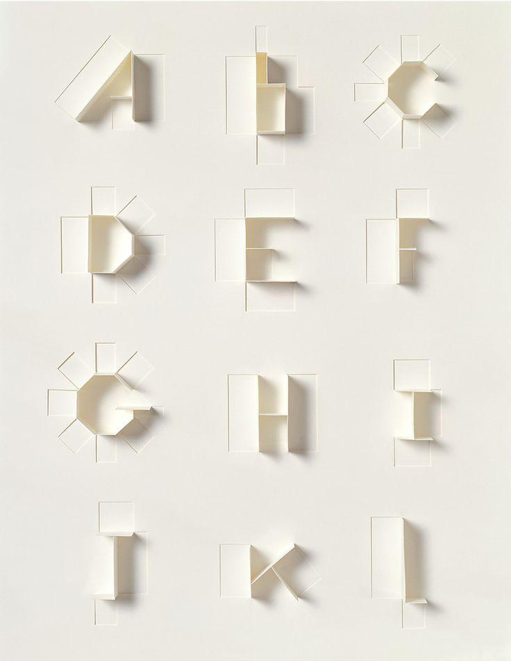 Paper Alphabet for Sculpture Today
