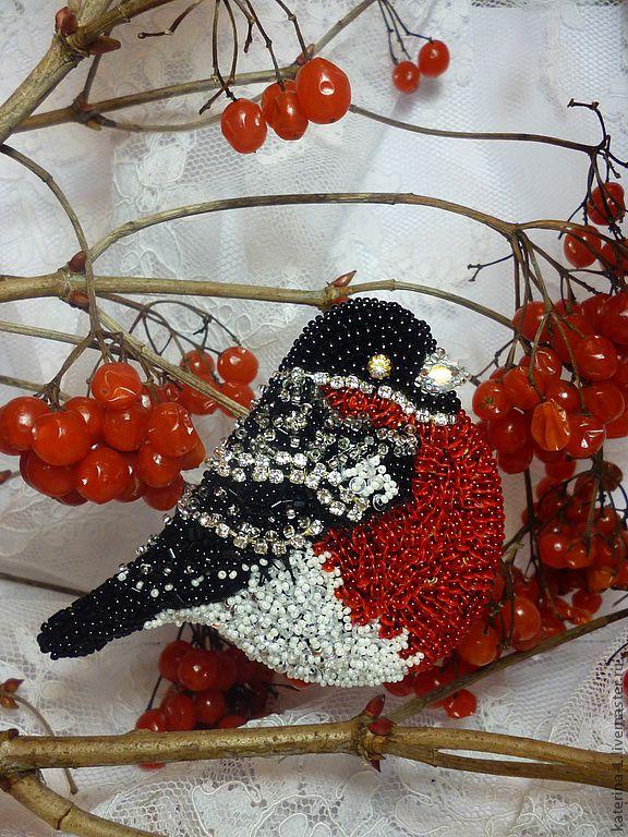 Купить Пышногрудый Царь - снегирь, царь, красный цвет, нарядный, подарок женщине