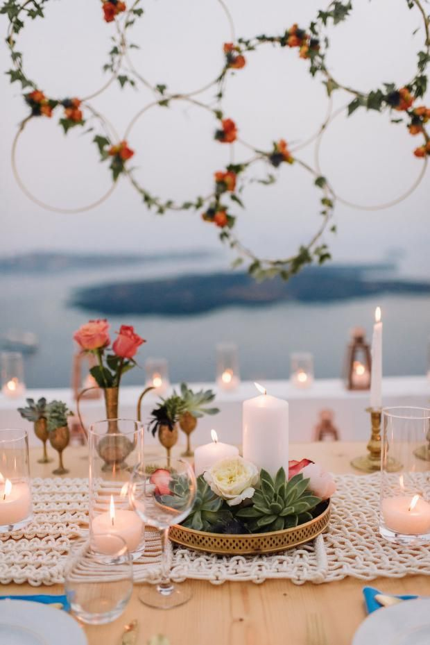 Bohemian & modern wedding in Santorini, Greece   Tie the Knot in Santorini