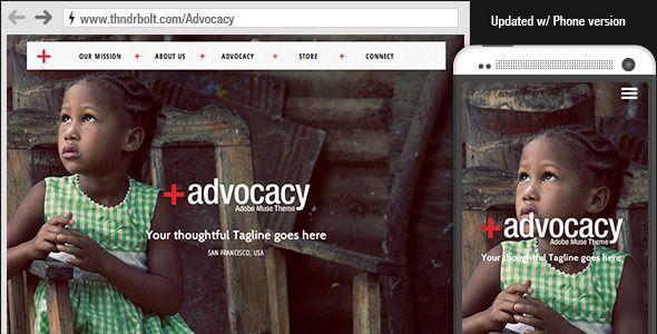Advocacy : Adobe Muse NonProfit Theme