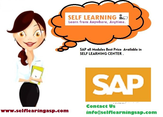 SAP all Modules   Available  Best Price in                                         SELF LEARNING CENTER . We have the training solutions for the modules like SAP SD, CRM,  MM,  ABAP,  FICO,  APO, WM, EWM, BO 4.1,  HANA , ABAP Webdynpro & OOPs. Courses Details : www.selflearningsap.com