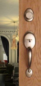 Lovely Entry Door Dummy Door Handle Handleset Landmark For Inactive Double Doors  Door Hardware In Brushed Nickel
