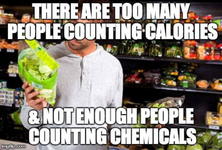 Too many people counting calories and not enough people counting chemicals...so true. #health
