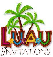 Party Planning Center: Free Printable Hawaiian Luau Party Invitations