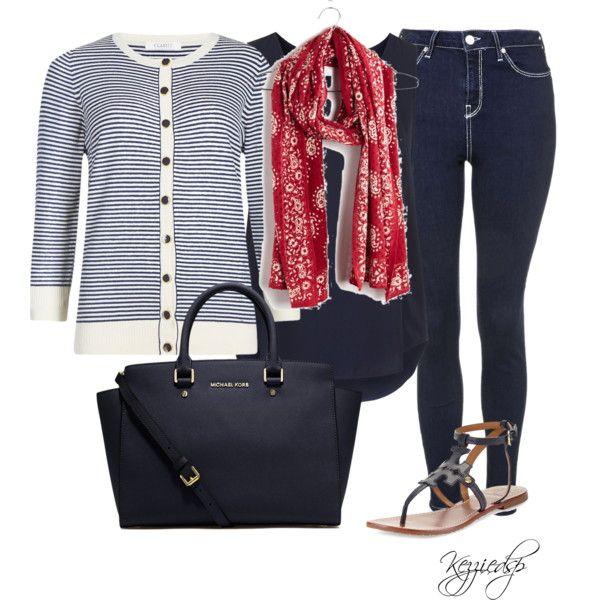 M&S striped cardigan