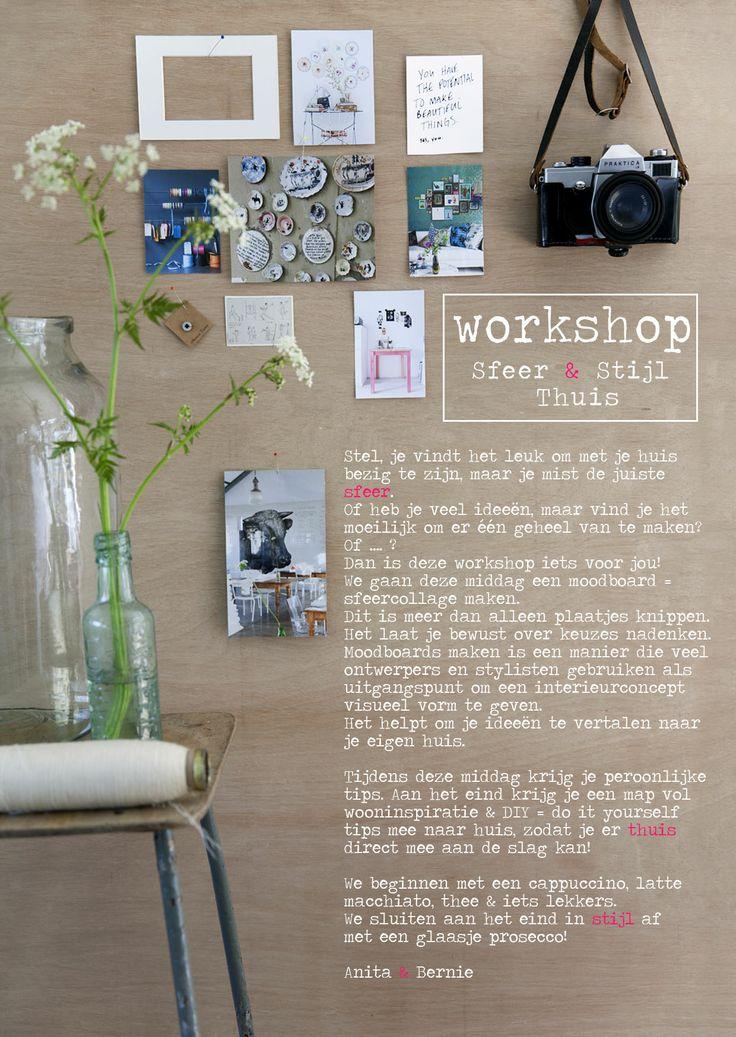 Flyer:  Workshop | Sfeer & Stijl - Thuis Gegeven door Livlig en Studiobern | www.livlig.nl