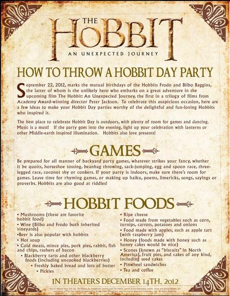 Hobbit Day is September 22 ya'll