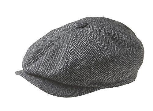 £16.99 Peaky Blinders 8 Piece 'Newsboy' Style Flat Cap -100% Wool (X-Large (61cm), Grey Herringbone) Peaky Blinders http://www.amazon.co.uk/dp/B00YHL1E4Y/ref=cm_sw_r_pi_dp_x6kCwb0E08J2Q