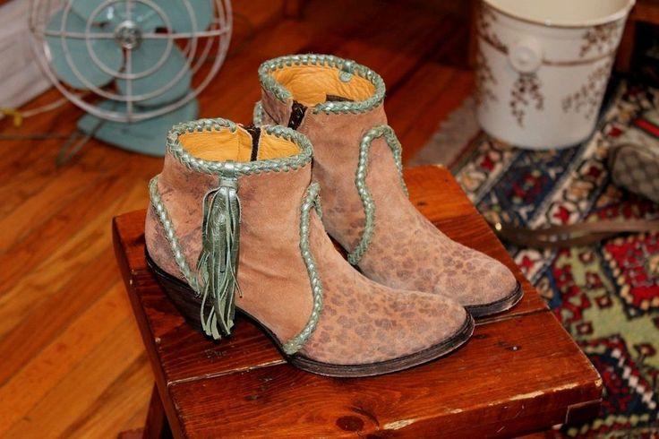 Super Cute Womens Old Gringo short side zip Boots animal print w fringe sz 6.5 B #OldGringo #CowboyWestern