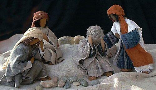 Biblische Figuren - Ijob und seine Freunde
