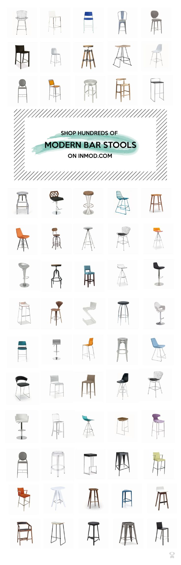 Shop hundreds of modern stools for your kitchen and bar on inmod.com !