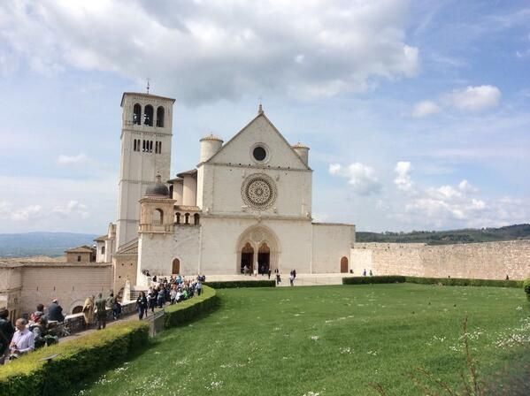 Check in with John Carroll School students as they explore Assisi, including pictured Basilica di San Francesco