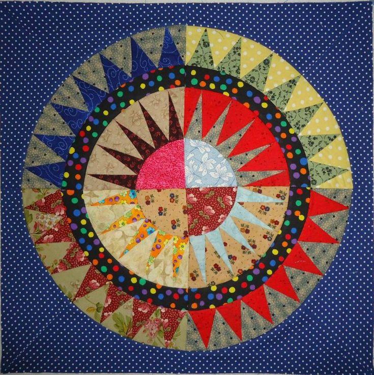 19 best Mandala quilts EPP images on Pinterest | Mandalas, English ... : mandala quilts - Adamdwight.com