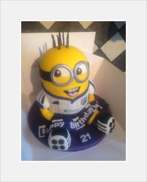 Super Heroes / Cartoon Characters - West Bromwich Albion Football Minion - Despicable Me !