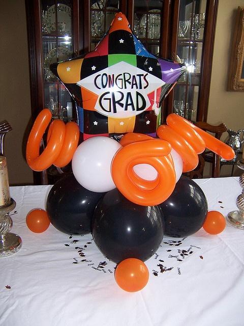 Best balloon graduation decor images on pinterest
