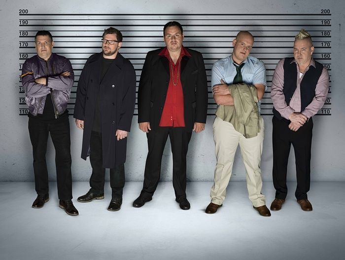 Gary Anderson, James Wade, Adrian Lewis, Michael van Gerwen and Peter Wright unite for The Usual Suspects.