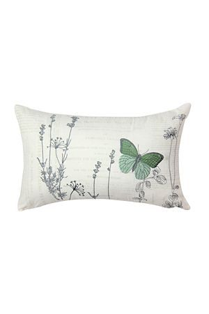 "Add a touch of nature to your bedroom with this wild flower and butterfly scatter cushion. Measures 30x50cm.<div class=""pdpDescContent""><BR /><b class=""pdpDesc"">Dimensions:</b><BR />L50xH30 cm<BR /><BR /><b class=""pdpDesc"">Fabric Content:</b><BR />50% Polyester 50% Cotton<BR /><BR /><b class=""pdpDesc"">Wash Care:</b><BR>Gentle machine wash low heat tumble dry</div>"