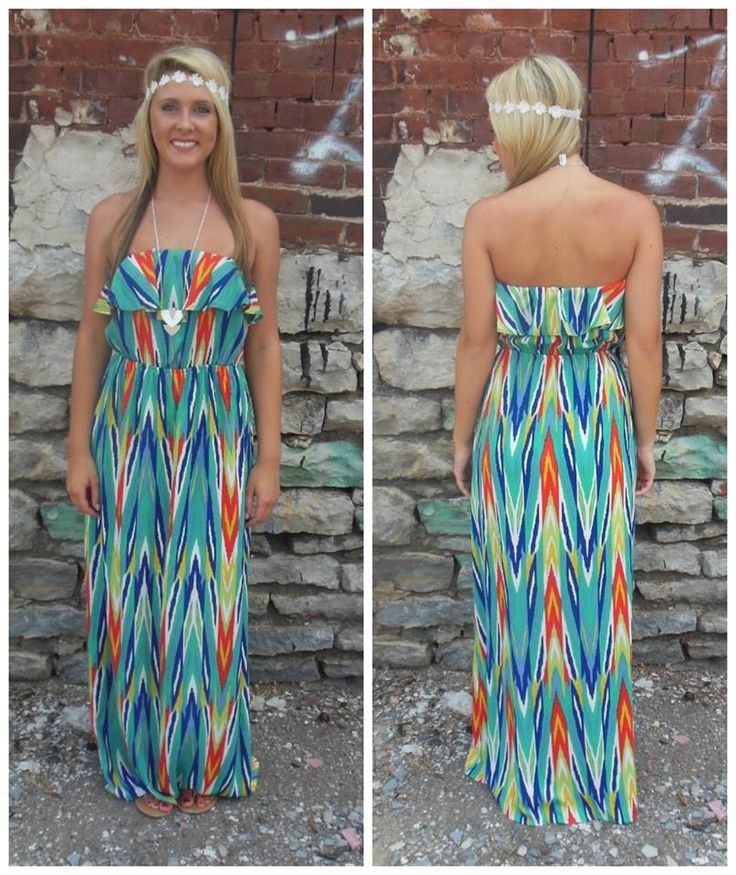$49 Colorful maxi dress Available at our Nashville, Tn location | Big Fashion Show maxi dress #dkny #dress