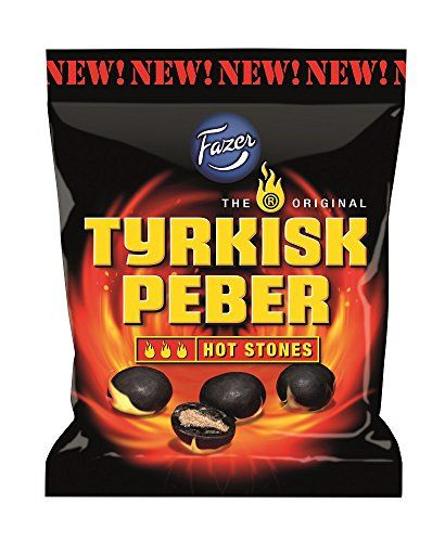 Fazer The Original Tyrkisk Peber HOT STONES Finnish Salmiakki Salmiac Salty…