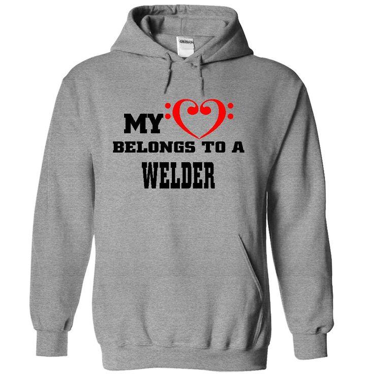 (New Tshirt Deals) My heart belongs to a Welder [Tshirt Sunfrog] Hoodies, Tee Shirts
