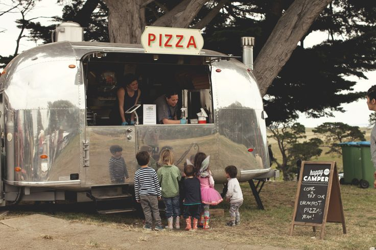 The Happy Camper Airstream Pizza Van. Worked a gig with these guys on Saturday at Ripponlea. GREAT pizza