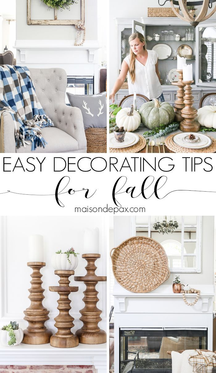 667 best Fall Decor images on Pinterest | Decorations, Fall mantels ...