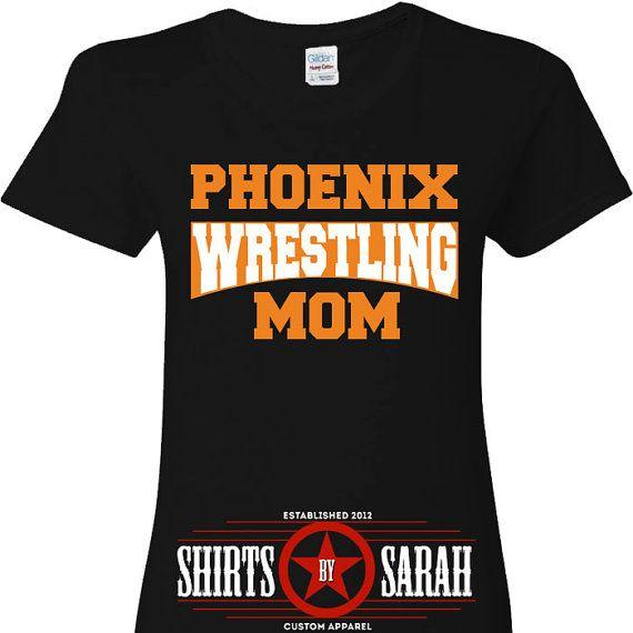 Personalized Wrestling Team Mom Shirt - Shirts for Wreslter Moms Cute Wrestle Shirt
