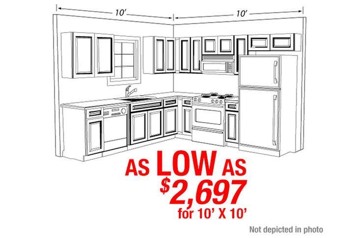 View 10' by 10' kitchen layout There is more to the Park Avenue cabinet than the attractive honey maple stain on a raised panel door. Solid Wood Cabinets, providers of the best kitchen cabinets on display in New Jersey and Pennsylvania
