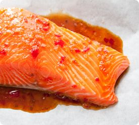 Flash-Roasted Salmon with Chilli Lime Glaze