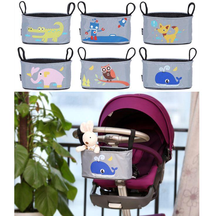 Bé treo giỏ đẩy Organizer Túi lưu trữ động vật phụ kiện xe đẩy Diaper Bag carrinho de bebe Kinderwagen Tasche