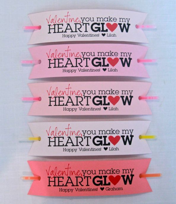 glow stick valentine: Glow Sticks, Valentines Ideas, For Kids, Heart Glow, Valentine'S S, My Heart, Valentines Cards, Sticks Valentines, Valentines Day Cards