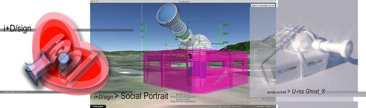 """BUNK® : """"portrait social"""" de Marc Veyrat. Trois versions, trois formes interagissantes de la même œuvre.  L'objet sémantique, de l'i+D/signe """"i-REAL"""", au """"portrait social"""" 3D installé sur Google Earth http://u-rss.eu en passant par l'U-rss """"Ghost-®"""" réalisé pour le flux RSS devient le """"point de contact""""... du tableau nœud de l'œuvre U-rss """"U-rss the place U-®""""..."""