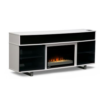 Pacer Entertainment Wall Units Fireplace TV Stand with