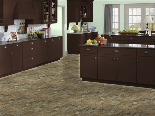 dark kitchen floors back splashes sherwin-williams: topiary tint canyon slate maple ...