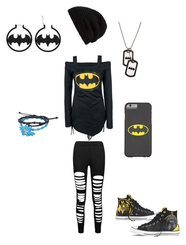 """Batman outfit #3"" by serenity-sempiternal2006 ❤ liked on Polyvore featuring Converse and Rick Owens"