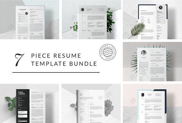 Big Bundle of 7 Resume Templates  @creativework247