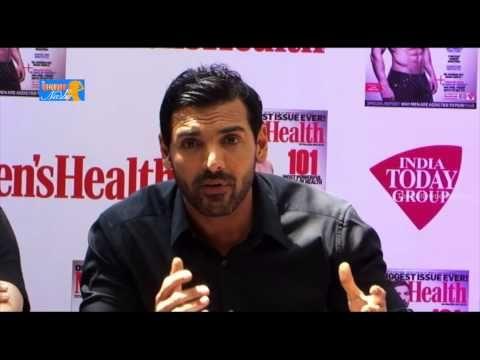 John Abraham Reveals Fitness Secret  Mens Health Magazine Launch P1
