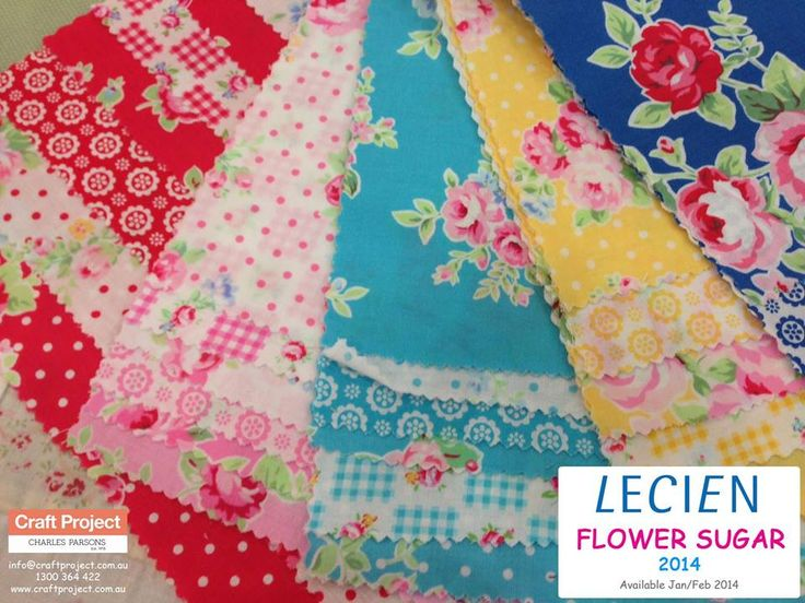 Yes!! Lecien's Flower Sugar is coming back! Here is a sneak peak of Flower Sugar 2014. Available Jan/Feb 2014. Taking Pre-Orders now!  info@craftproject.com.au 1300 364 422