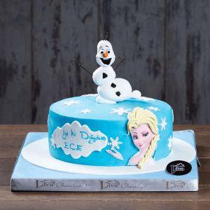 karlar ülkesi doğum günü pastası, özel pasta, ankara butik pasta, liva, liva karlar ülkesi olaf özel pasta