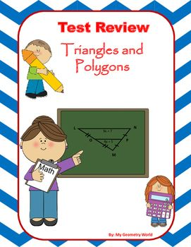 Geometry test review covering: Midsegments of triangles, Midsegments on the coordinate plane, Triangle inequalities, Pythagorean theorem, Polygons Interior angle sums, Exterior angle sums