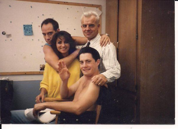 Kyle Maclachlan & co on the set of Twin Peaks