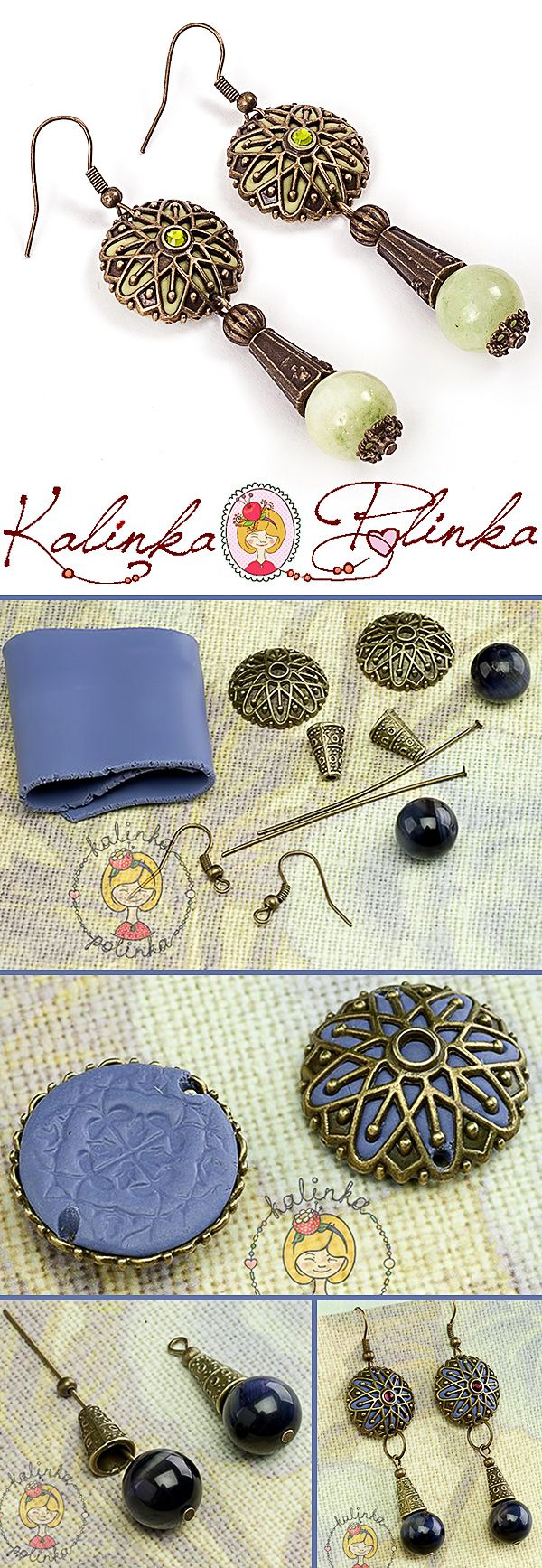 Серьги с использованием полимерной глины урок, мастер-класс How to make earrings with polymer clay. Tutorial, DYI